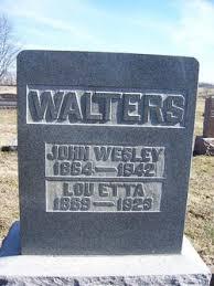 John Wesley Walters (1865-1942) - Find A Grave Memorial