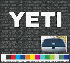 Yeti Boat Cooler Car Truck Window Decal Sticker Laptop 9 Ebay