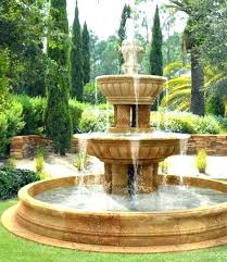 outdoor water fountains for