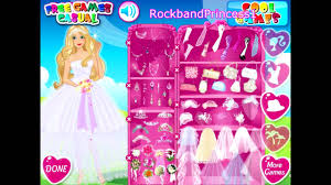 wedding party barbie dress up games