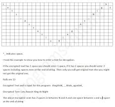 All C Programs Program 223 Decryption Of Rail Fence Cipher Using C
