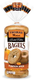 limited edition pumpkin e bagels