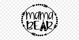 Mama Bear With Arrows And Teepee Vinyl Decal Sticker Mama Bear Decal Black And White Free Transparent Png Clipart Images Download