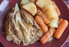 crock pot pork roast with vegetables