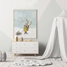 girl bedroom wall decor winter