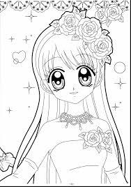 Kawaii Anime Unicorn Girl Coloring Pages
