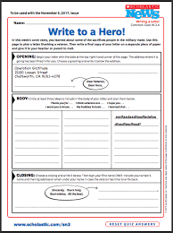 veterans day writing activity thank a