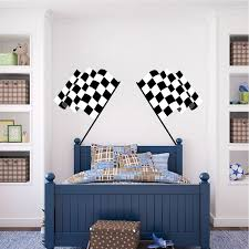 Racing Flags Wall Decal Murals Sports Stickers Primedecals