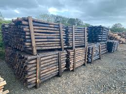 Scanpole Creosoted Scots Pine Fence Posts Rails Gates Celtic Timber