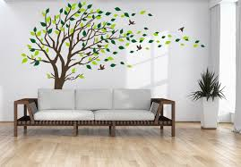 Tree Wall Decal For Childrens Room Birch Brown Baby Girl Nursery Art White Vinyl Palm Cherry Vamosrayos