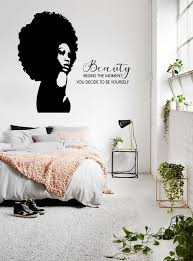 Beauty Wall Decal African Woman Wall Decal African Girl Etsy