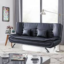 sofa bed luxury faux leather settee