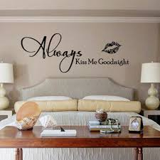 Always Kiss Me Goodnight Wall Art Decal Sticker