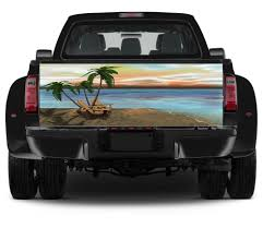 American Flag Waving Rear Window Graphic Decal Wrap Tint Print Truck Suv Jeep