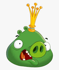Pig Talent And Bird - Angry Birds King Smooth Cheeks , Free ...