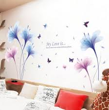 Dream Orchids Large Wall Stickers Flowers Home Decor Living Etsy