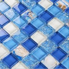 sky blue ed glass mosaic resin