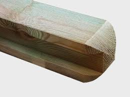 Timber Posts Gravel Boards H Ribbed Round Top Tanalized Green Posts Pennine Fencing Landscaping