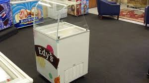 four flavor ice cream dipping cabinet