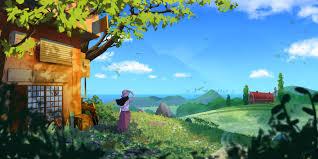 فتاة خلفية والمناظر الطبيعية والفن والطبيعة والأفق Hd