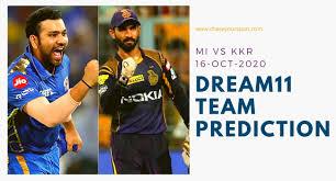 MI vs KKR today Dream11 team Prediction ...