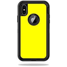 Skin Decal For Otterbox Defender Iphone X Or Xs Case Sticker Yellow Walmart Com Walmart Com
