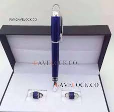 copy mont blanc pen and cufflink set