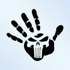 Hand Print Punisher Skull Vinyl Decal Sticker Punisher Punisher Skull Vinyl Decals