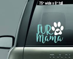 Sale Fur Mama Decal Paw Print Decal Dog Mom Car Decal Etsy