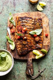 Grilled Salmon with Avocado Basil Sauce ...