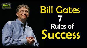 bill gates rules of success microsoft founder entrepreneur