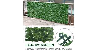 Dick Smith 25x50cm Artificial Hedge Ivy Leaf Garden Fence Privacy Screen Mesh Outdoor Decor Floral Decor