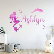 Trule Watercolor Mermaid Wall Decal Wayfair