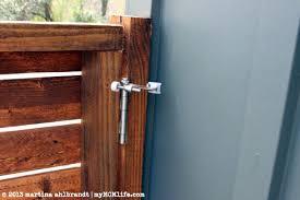 Diy Modern Wood Fence And Gate Courtyard Edition Mymcmlife Com