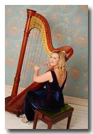book a harpist weddings parties