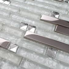 clear glass mosaic tiles