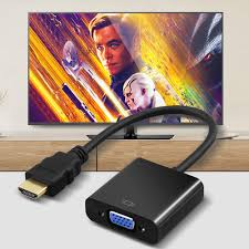 1080P hdmi to vga adapter Cable for monitor Male To Famale Converter For PC  Laptop Tablet HDMI vers VGA|Computer Cables & Connectors