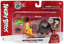 Angry Birds Mission Flock Pack Bomb & Chuck Figure 2-Pack ...