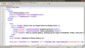 creating a photo gallery with html css