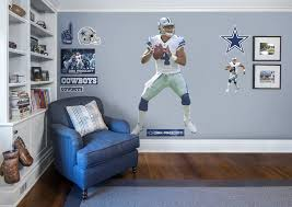 Boys Football Bedroom Nfl Dak Prescott Dallas Cowboys Get Your Favorite Player Today Www Fathead Com Sports Room Boys Wall Decals Sports Room