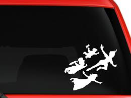 Peter Pan Kids 6 White Car Truck Vinyl Decal Art Wall Sticker Usa Classic Disney Movies Toysplus