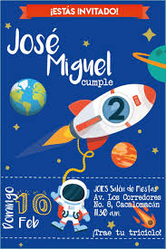 Invitacion Astronauta Fiesta Espacial Invitaciones Cumple