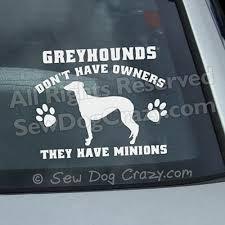 Greyhound Minions Decal Sew Dog Crazy