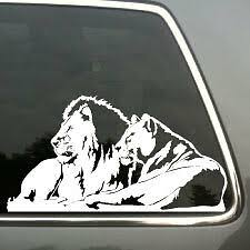Lion And Lioness Pride African Car Window Vinyl Decal Ebay