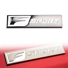 2 Pcs Pair Polished Chrome Red F Sport Logo Car Emblem Sticker Decal For Lexus Archives Statelegals Staradvertiser Com