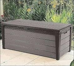cushion storage box garden rattan