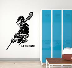 Lacrosse Wall Decal Boys Lax Personalized Boys Room Wall Stickers Lacrosse Team For Sale Online Ebay