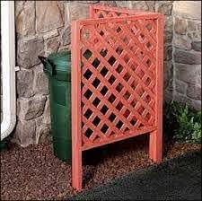 Vinyl Lattice Trash Can Screen Hide Trash Cans Outdoor Trash Cans Lattice Fence Panels
