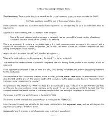 gmat critical reasoning concept book