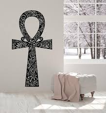 Vinyl Wall Decal Egyptian Cross Ancient Symbol Amulet Ankh Stickers Mu Wallstickers4you